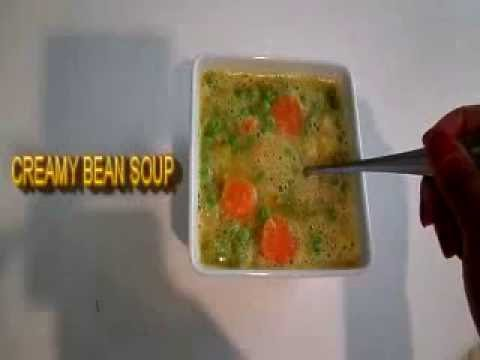 CREAMY NAVY BEAN SOUP Recipe with vegetables