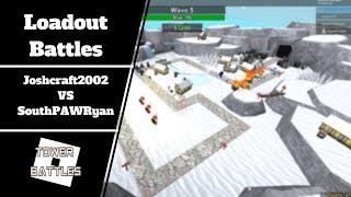 SouthPAWRyan VS Joshcraft2002 | Tower Battles [ROBLOX]