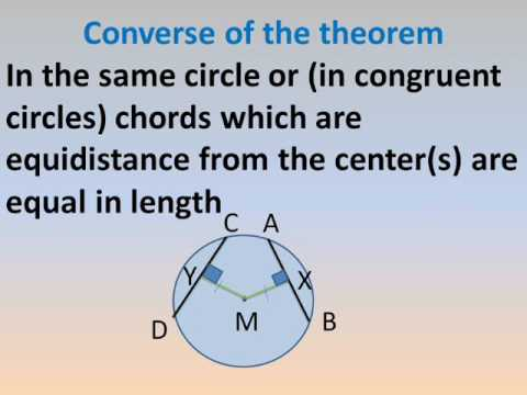 third prep geometry math lessons second term relation between chords and the center of circle