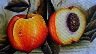 Como pintar Pêssegos em tecido por Arte com Marcos Pedro