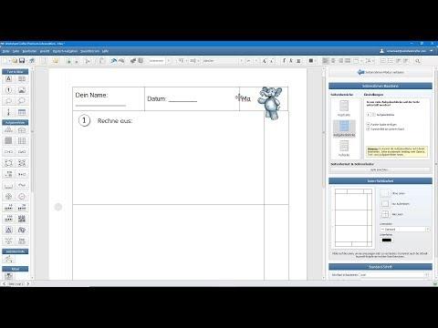 Seitenrahmen Im Worksheet Crafter - Einfach & Schnell