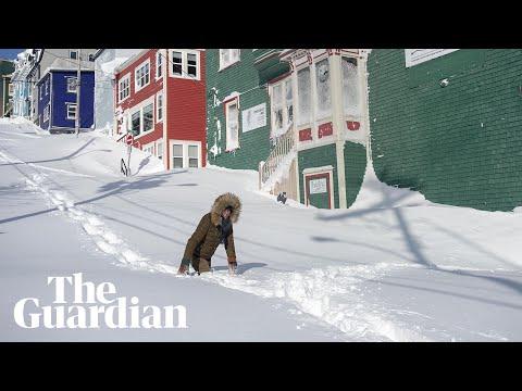 Blizzards and storms strike Newfoundland