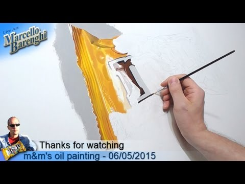 m&m's oil painting - 06/05/2015 LIVE Art - 3rd day
