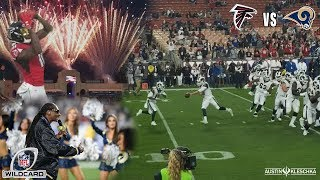 RAMS vs FALCONS WILD CARD PLAYOFF GAME! | Kleschka Vlogs