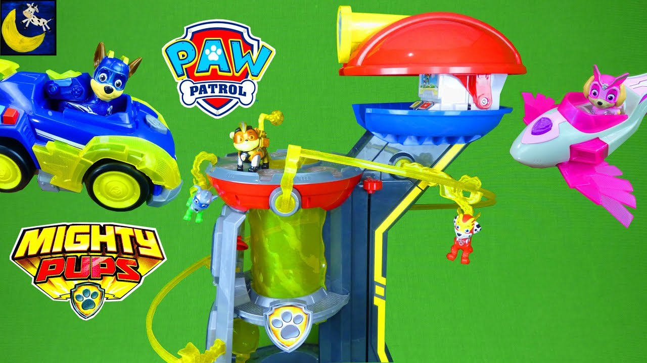 HUGE Paw Patrol Mighty Pups Lookout Tower New 2019 Toys ...   Cars Paw Patrol Pups