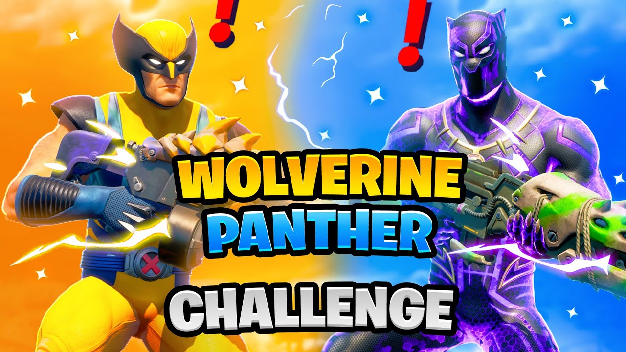 Fortnite Wolverine vs Black Panther Mythic Weapons Boss Marvel Challenge
