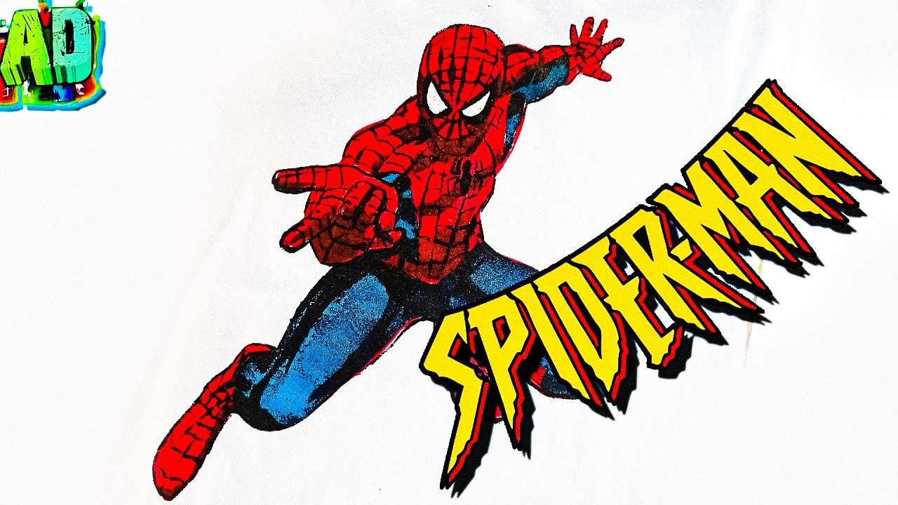 Человек паук рисунок на футболке футболка человек паук