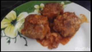 ТЕФТЕЛИ с рисом в томатном соусе-рецепт...