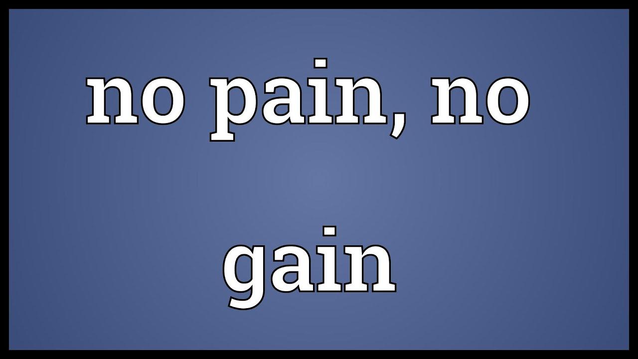 no pain no gain paragraph writing