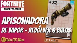 FORTNITE | Pistola pesada APISONADORA DE VAPOR | Revólver de 6 Balas Steampunk