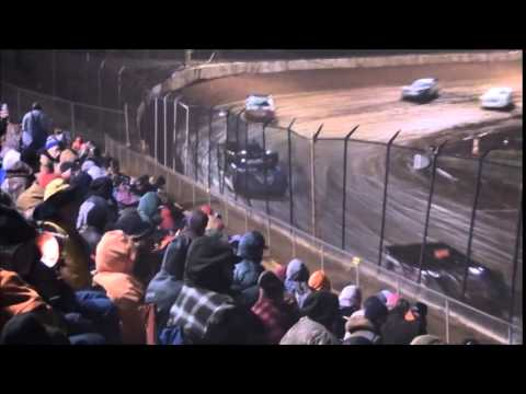 Hangover 40 Late Model Feature from 411 Motor Speedway 1/1/15.