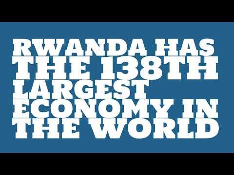How big is the economy of Rwanda?
