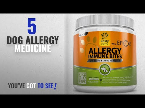 Top 5 Dog Allergy Medicine [2018 Best Sellers]: Allergy Immune Supplement for Dogs – With Omega 3