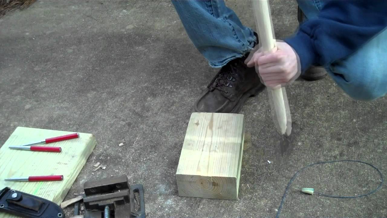how to make a hatchet handle