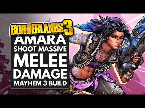 Borderlands 3 Best Builds | SHOOT MASSIVE MELEE DAMAGE - Ultimate Amara Brawler Mayhem 3 Build