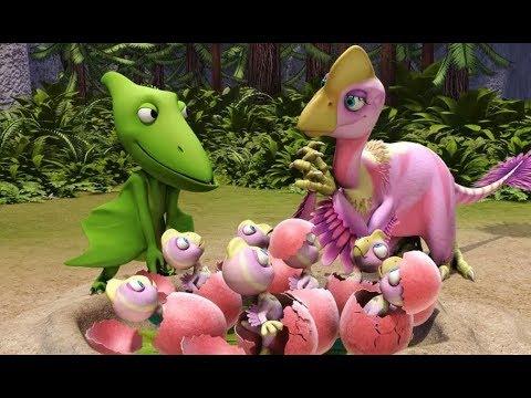 Поезд динозавров Оливия Овираптор Мультфильм про динозавров
