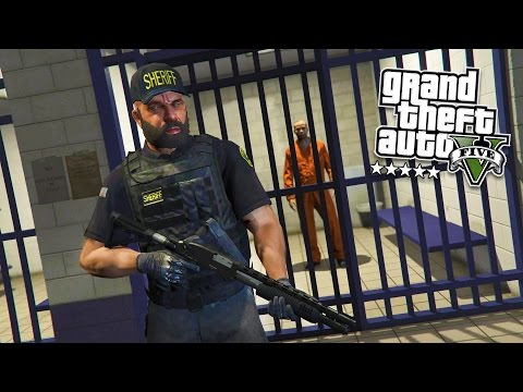 GTA 5 PC Mods - PLAY AS A COP MOD #13! GTA 5 PRISON GUARD Po