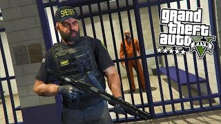 GTA 5 PC Mods - PLAY AS A COP MOD #13! GTA 5 PRISON GUARD Police Mod Gameplay! (GTA 5 Mod Gameplay)