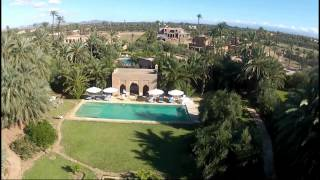 Vidéo aérienne villa Palmeraie Marrakech