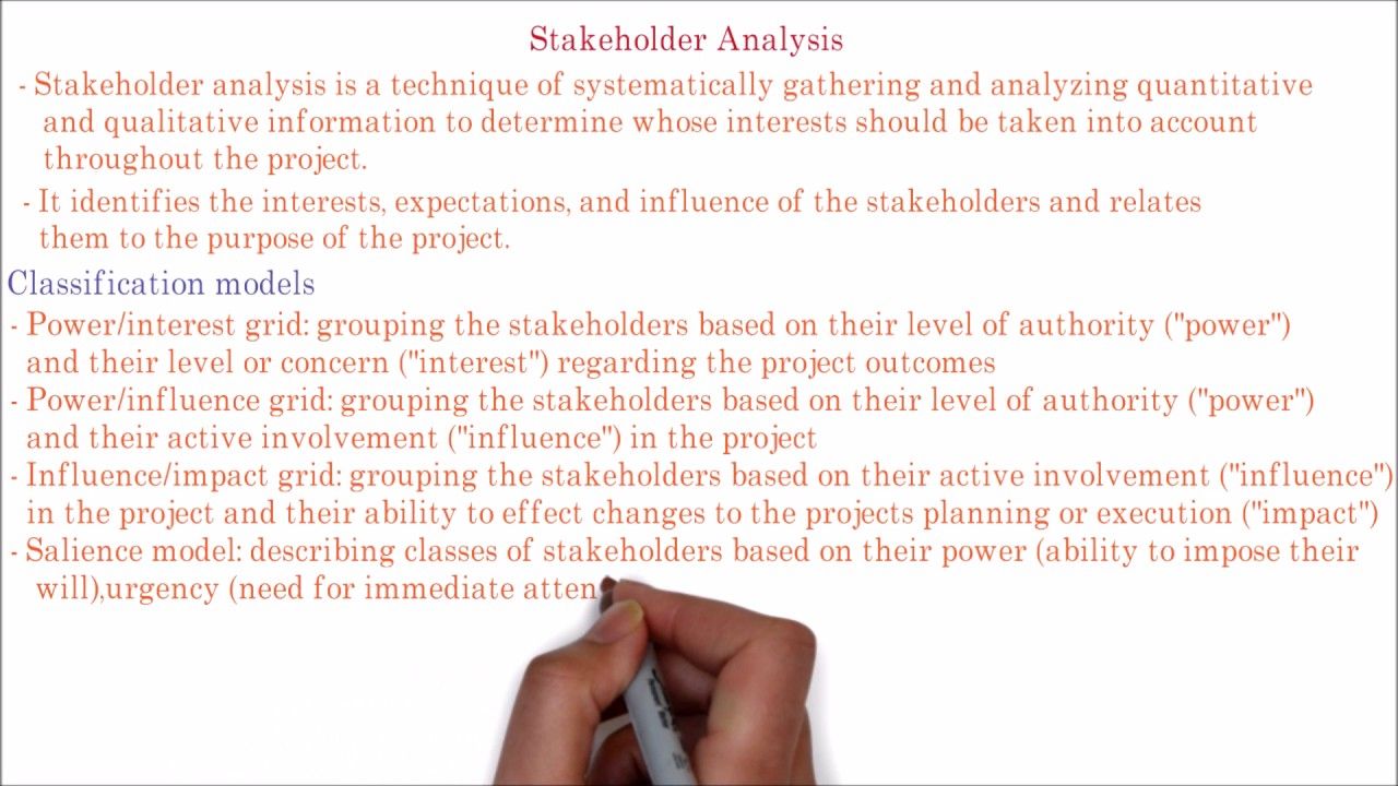 102. PMP | Stakeholder analysis grid | Power/influence power/interest grid matrix explained. Let's analysis the process of stakeholder analysis in this PMI PMP project management tutorial video. - Stakeholder analysis is a technique of systematically.... Youtube video for project managers.