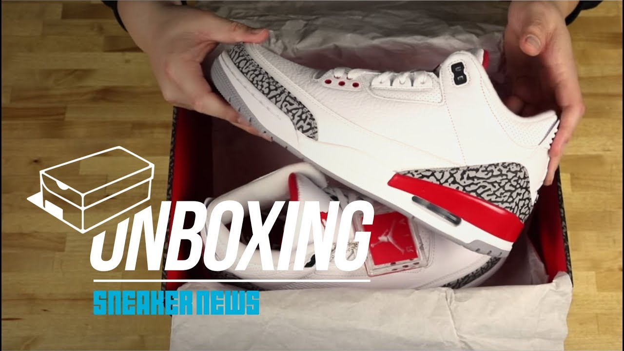 999da81f44c Unboxing The Air Jordan 3