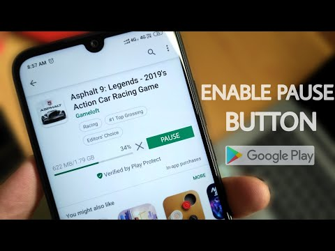 How To Enable Pause Button In Play Store | Pubg Pause Trick
