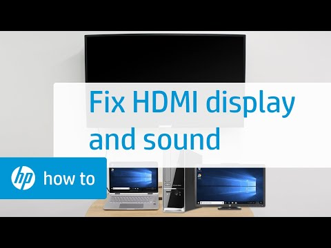 How To Fix HDMI Display and Sound Problems in Windows | HP Computers | HP