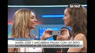 Cultura Chupística: Maca debe cumplir su penitencia y besar a María José
