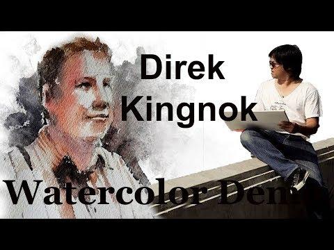 Watercolor Portrait Painting Demonstration Artist Direk Kingnok Model Ahmet ÖZGÜR