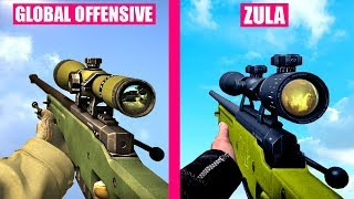 Counter-Strike Global Offensive Guns Reload Animations vs ZULA