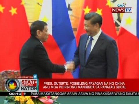 SONA: Pres. Duterte: Posibleng payagan na ng China ang mga pilipinong mangisda sa Panatag Shoal