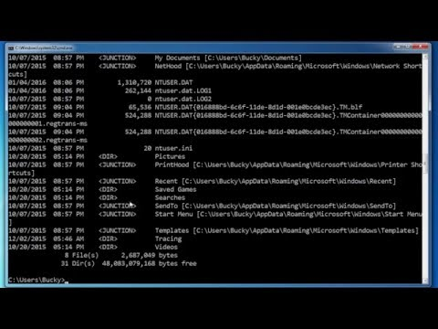 Windows Command Line Tutorial - 2 - Listing Files and Directories