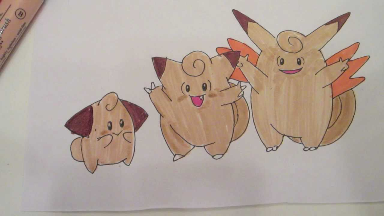 Clefable How to draw Pokemon: N...