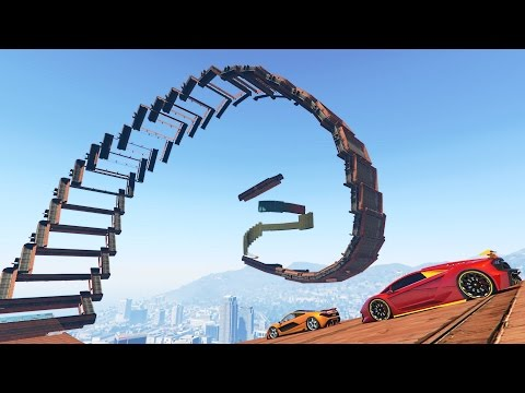 WEIRDEST CURLED RAMP EVER! (GTA 5 Funny Moments)