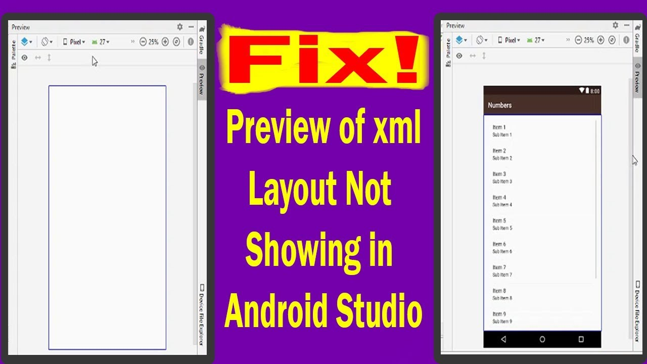 Fix! Android Studio Does Not Show Layout Preview | Android App Development  video#19