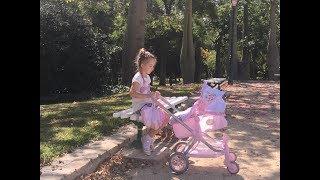 распаковка и обзор крутецкой новой коляски ! Прогулка по парку Валенсии Испания !