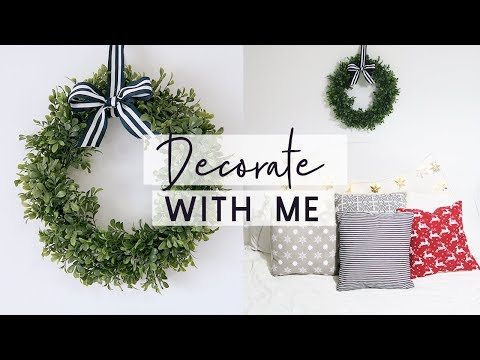 Decorate with me for Christmas 🎄 🎅 The 12 DIYs of Christmas