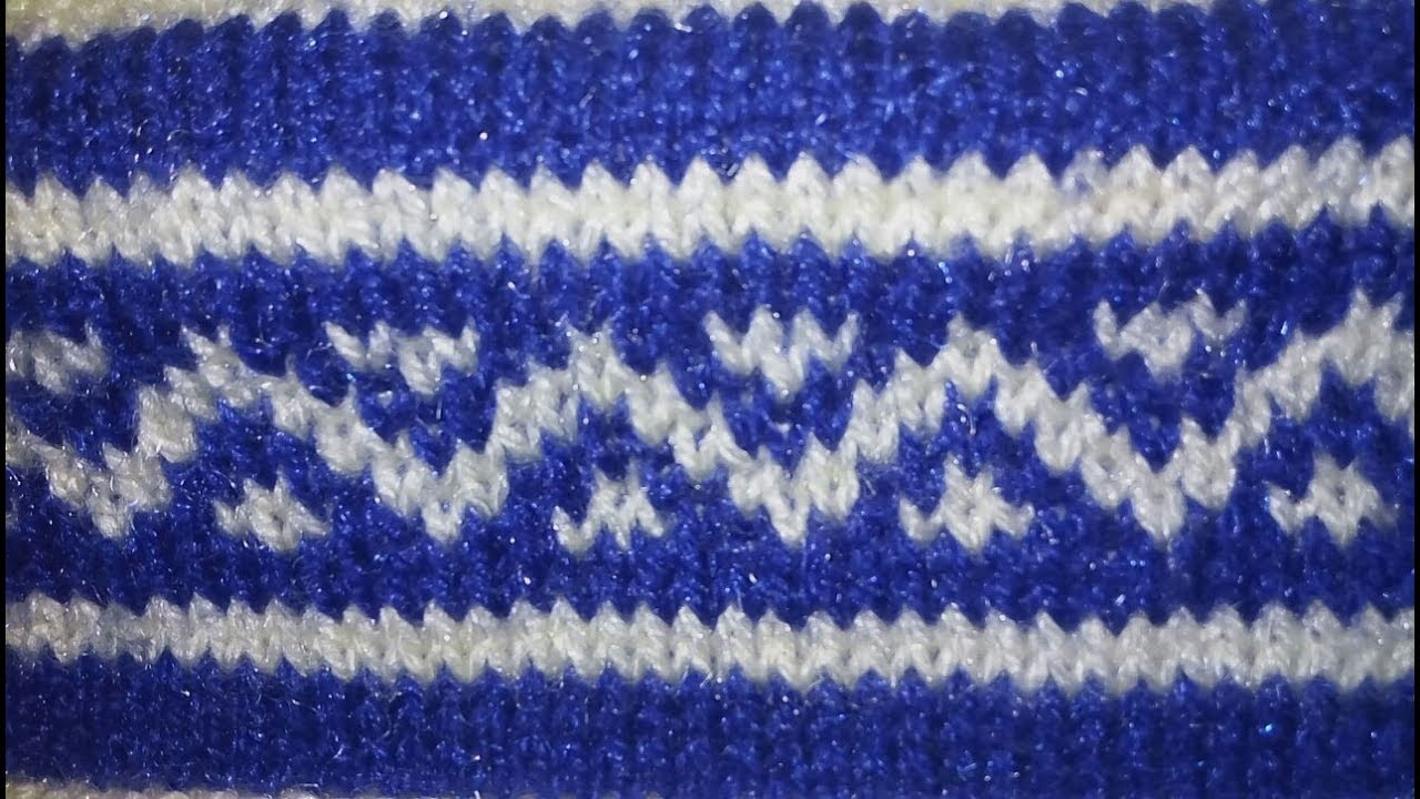 Easy Two Color Graph Knitting Pattern|Hindi - YouTube