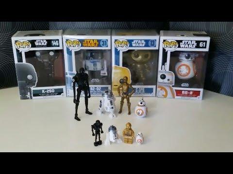 Star Wars droid collection  x3 Hasbro, Lego, Funko xxx by Pony boy.