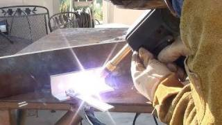 using a spool gun for the first time to weld aluminum.  learning to weld