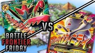 Pokémon TCG Matchup - Mega Scizor EX vs Mega Mewtwo EX!   Battle Frontier Friday #12!