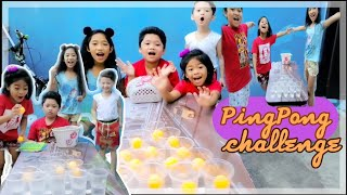 PING PONG BALL CHALLENGE | MummaDunna And Kids