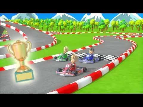 笑える   バイン   binkie television goカートレースおかしい車のビデオ子供のためのカートスポーツカーレース