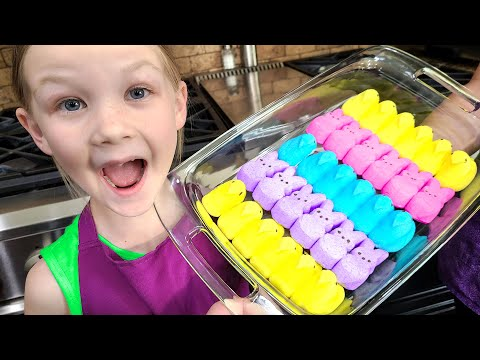 How to Make Yummy Peeps Marshmallow Easter Treats!!!