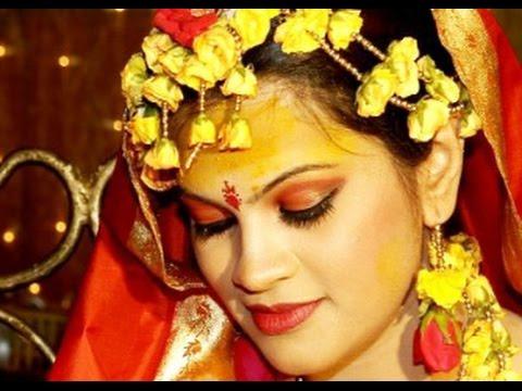 Mehndi Fresh Flowers : Mehndi hairstyle fresh flowers youtube