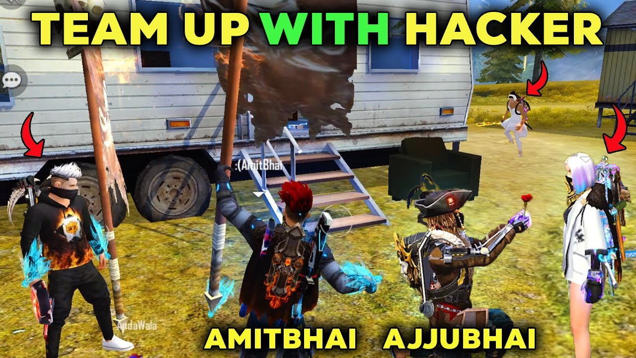 Ajjubhai and Amitbhai Team Up With Hacker   Free Fire Highlights