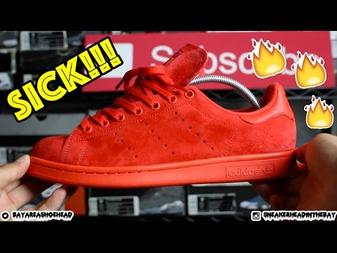 11cce3a36 ... norway adidas stan smith power red review on feet youtube 1d8c6 cab45