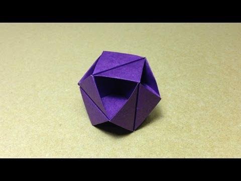 【折り紙(おりがみ)】 くす玉 立方八面