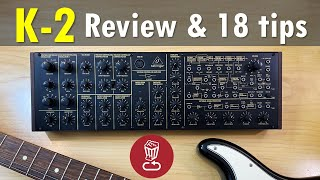bEHRINGER K-2 Tutorial & Review, with 18 patch ideas (that also apply to KORG's MS-20)