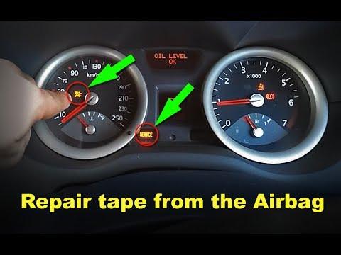 How to fix tape airbag Renault Megane II - YouTube